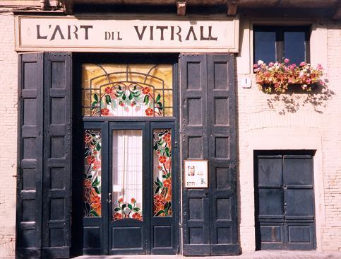 L'Art del Vitrall - Vista frontal del taller.
